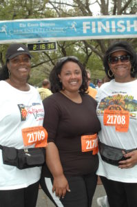 Mom, Auntie Elaine and me at the finish of the Crescent City Classic in 2010. I weighed around 260 pounds.